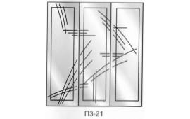 Пескоструйный рисунок П3-21 на три двери шкафа-купе. Узор