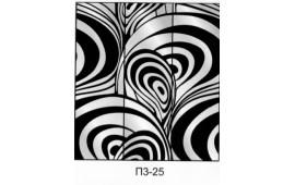 Пескоструйный рисунок П3-25 на три двери шкафа-купе. Узор