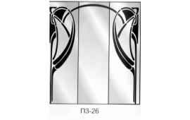 Пескоструйный рисунок П3-26 на три двери шкафа-купе. Узор