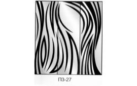 Пескоструйный рисунок П3-27 на три двери шкафа-купе. Узор