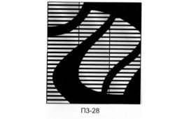 Пескоструйный рисунок П3-28 на три двери шкафа-купе. Узор