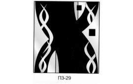 Пескоструйный рисунок П3-29 на три двери шкафа-купе. Узор