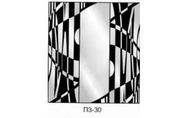 Пескоструйный рисунок П3-30 на три двери шкафа-купе. Узор