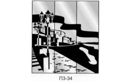 Пескоструйный рисунок П3-34 на три двери шкафа-купе. Узор