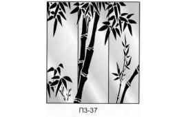 Пескоструйный рисунок П3-37 на три двери шкафа-купе. Узор