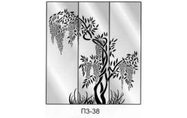 Пескоструйный рисунок П3-38 на три двери шкафа-купе. Дерево