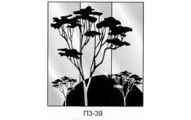Пескоструйный рисунок П3-39 на три двери шкафа-купе. Дерево
