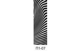 Пескоструйный рисунок П1-07 на одну дверь шкафа-купе. Узор