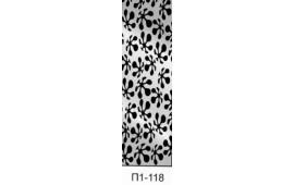Пескоструйный рисунок П1-118 на одну дверь шкафа-купе. Узор