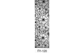 Пескоструйный рисунок П1-120 на одну дверь шкафа-купе. Цветы