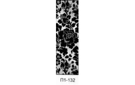 Пескоструйный рисунок П1-132 на одну дверь шкафа-купе. Цветы