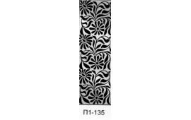 Пескоструйный рисунок П1-135 на одну дверь шкафа-купе. Цветы