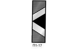 Пескоструйный рисунок П1-17 на одну дверь шкафа-купе. Узор