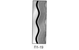 Пескоструйный рисунок П1-19 на одну дверь шкафа-купе. Узор