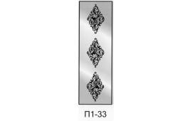 Пескоструйный рисунок П1-33 на одну дверь шкафа-купе. Узор
