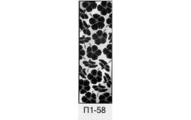 Пескоструйный рисунок П1-58 на одну дверь шкафа-купе. Цветы
