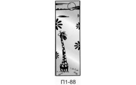 Пескоструйный рисунок П1-85 на одну дверь шкафа-купе. Детское