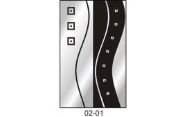 Пескоструйный рисунок 02-01 на две двери для шкафа-купе. Абстракция