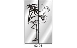 Пескоструйный рисунок 02-04 на две двери для шкафа-купе. Птица