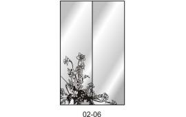 Пескоструйный рисунок 02-06 на две двери для шкафа-купе. Цветы