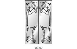 Пескоструйный рисунок 02-07 на две двери для шкафа-купе. Узор