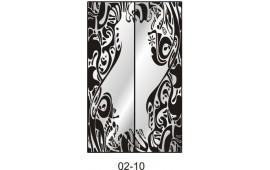 Пескоструйный рисунок 02-10 на две двери для шкафа-купе. Узор
