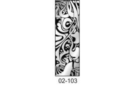 Пескоструйный рисунок 02-103 на одну дверь шкафа-купе. Узор