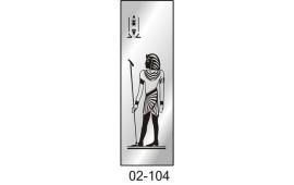 Пескоструйный рисунок 02-104 на одну дверь шкафа-купе. Египет