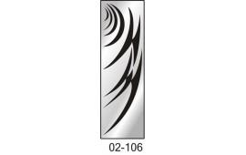 Пескоструйный рисунок 02-106 на одну дверь шкафа-купе. Узор