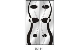 Пескоструйный рисунок 02-11 на две двери для шкафа-купе. Узор