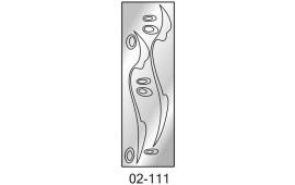 Пескоструйный рисунок 02-111 на одну дверь шкафа-купе. Узор