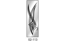 Пескоструйный рисунок 02-113 на одну дверь шкафа-купе. Узор