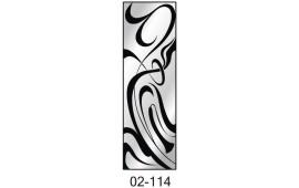 Пескоструйный рисунок 02-114 на одну дверь шкафа-купе. Узор