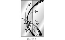 Пескоструйный рисунок 02-117 на две двери шкафа-купе. Узор
