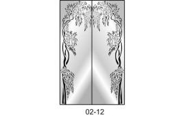Пескоструйный рисунок 02-12 на две двери шкафа-купе. Узор