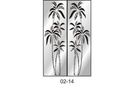 Пескоструйный рисунок 02-14 на две двери шкафа-купе. Пальмы