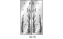 Пескоструйный рисунок 02-15 на две двери шкафа-купе. Узор