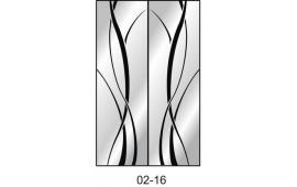 Пескоструйный рисунок 02-16 на две двери шкафа-купе. Узор