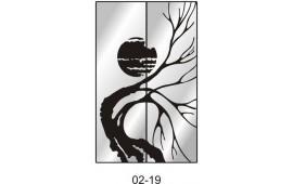 Пескоструйный рисунок 02-19 на две двери шкафа-купе. Абстракция