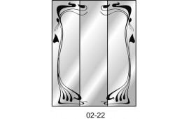 Пескоструйный рисунок 02-22 на три двери шкафа-купе. Узор