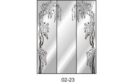Пескоструйный рисунок 02-23 на три двери шкафа-купе. Узор