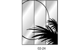 Пескоструйный рисунок 02-24 на три двери шкафа-купе. Узор