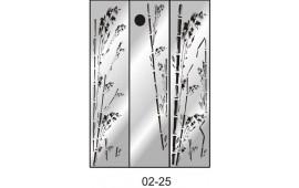 Пескоструйный рисунок 02-25 на три двери шкафа-купе. Узор