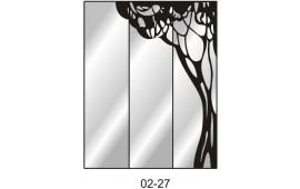 Пескоструйный рисунок 02-27 на три двери шкафа-купе. Узор