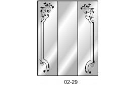 Пескоструйный рисунок 02-29 на три двери шкафа-купе. Узор