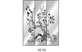 Пескоструйный рисунок 02-33 на три двери шкафа-купе. Дерево
