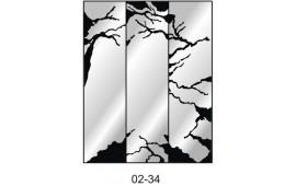 Пескоструйный рисунок 02-34 на три двери шкафа-купе. Дерево