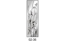 Пескоструйный рисунок 02-36 на одну дверь шкафа-купе. Узор