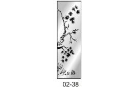 Пескоструйный рисунок 02-38 на одну дверь шкафа-купе. Дерево