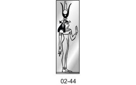 Пескоструйный рисунок 02-44 на одну дверь шкафа-купе. Египет